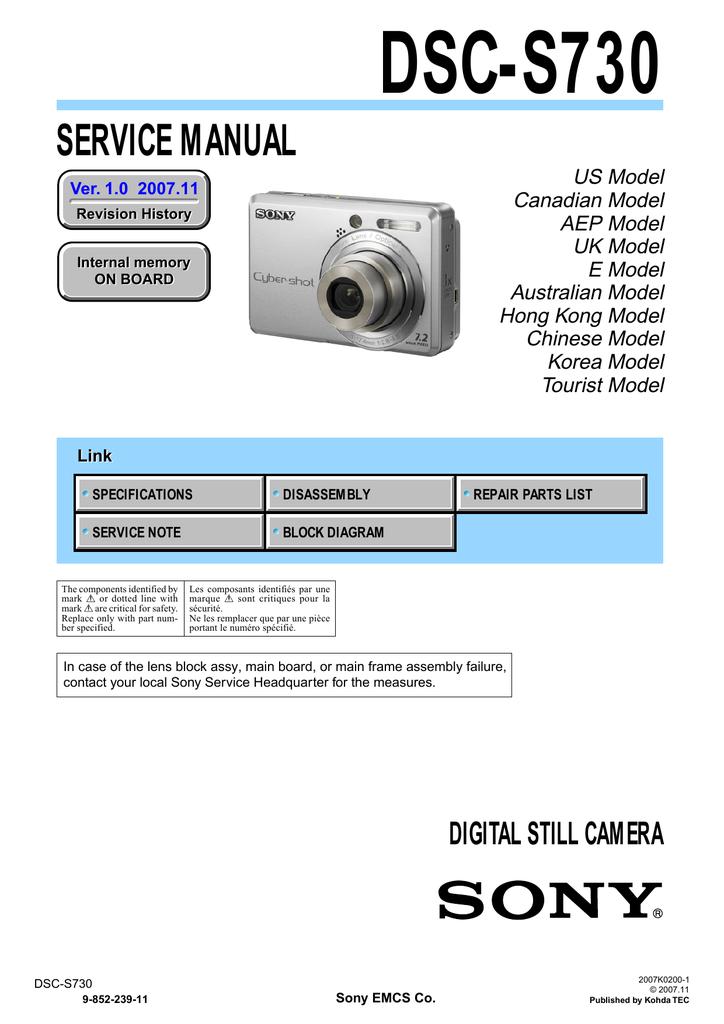 DA SHOT DSC-S730 SONY BAIXAR PROGRAMA CYBER