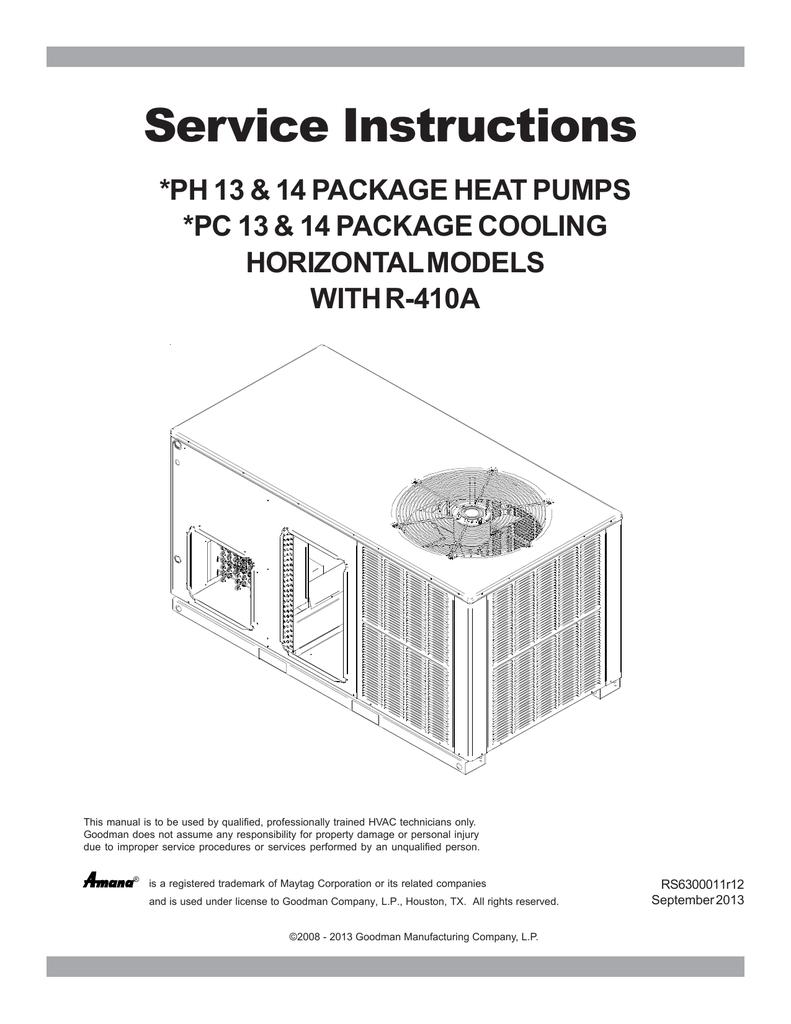 Goodman gpcgph h r 410a service manual sciox Gallery