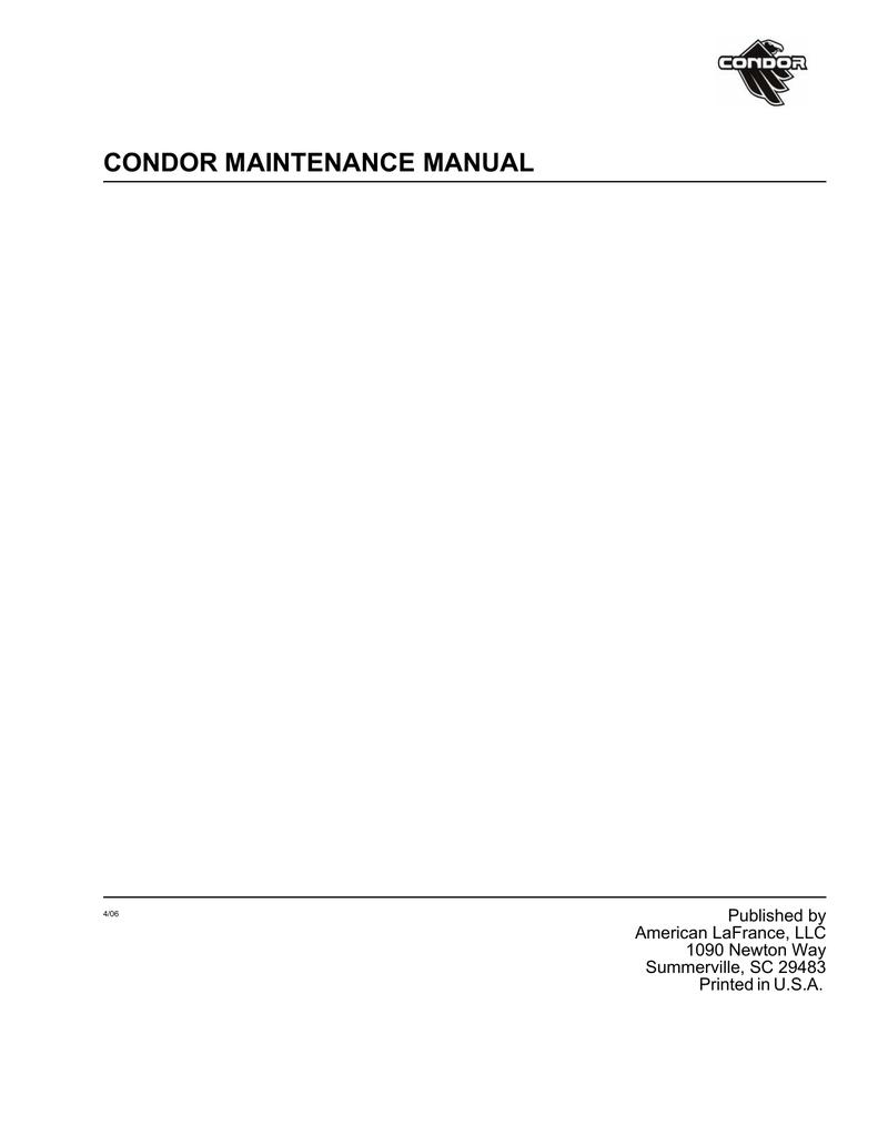 American Lafrance Condor Wiring Diagram Simple Electrical Maintenance Manual Book Manualzz Com Kenworth