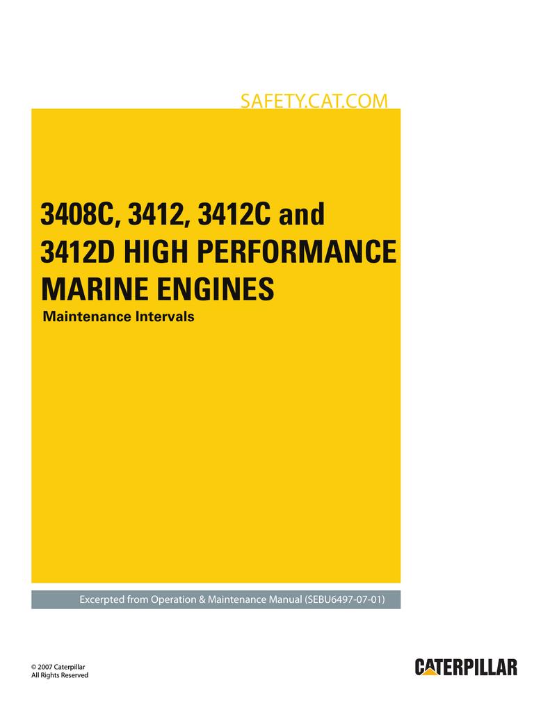 3408C, 3412, 3412C and 3412D High Performance Marine