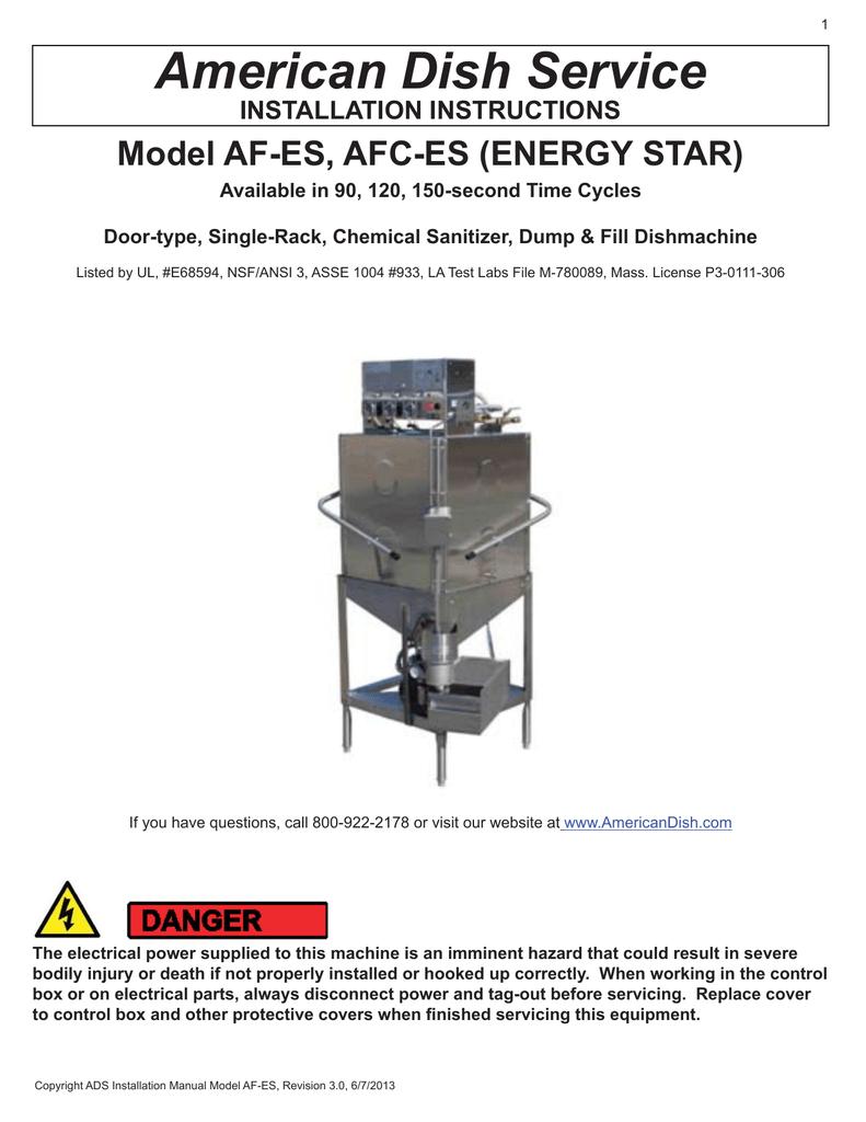 Ads Dish Machine Wiring Diagram Electrical Diagrams Installation Manual Afes Afces Energy Star Manualzz Com Atv