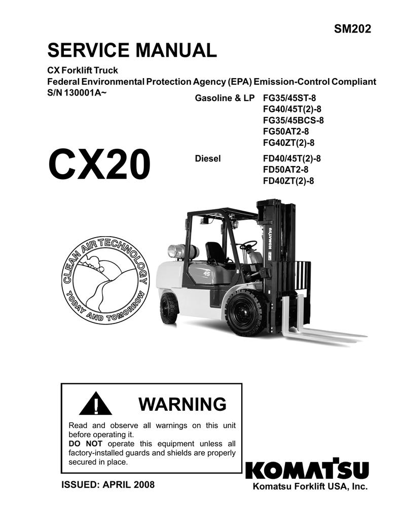 SERVICE MANUAL Komatsu Forklift USA Inc v31 – Komatsu 25 Forklift Light Wiring Diagram