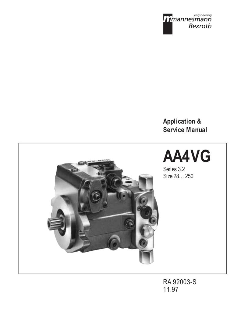 Rexroth 28-250 Pump and Service Manual | manualzz com