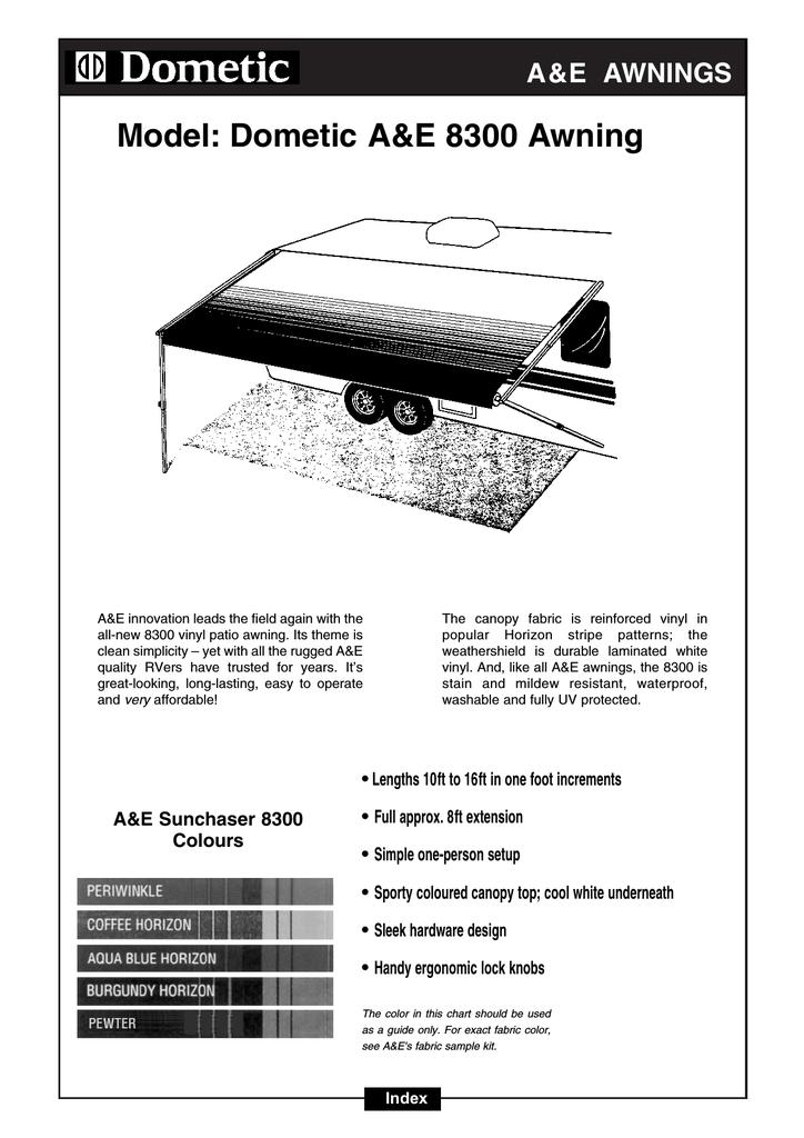 Model: Dometic A&E 8300 Awning | manualzz com
