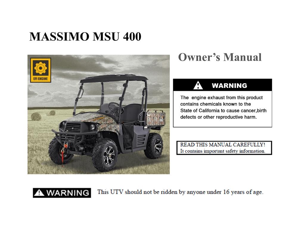 Owner Manual - Massimo Motor   manualzz com