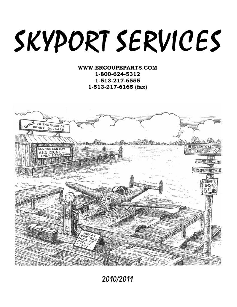 2010-2011 Skyport Catalog - Ercoupe Parts,ercoupe parts,Ercoupe