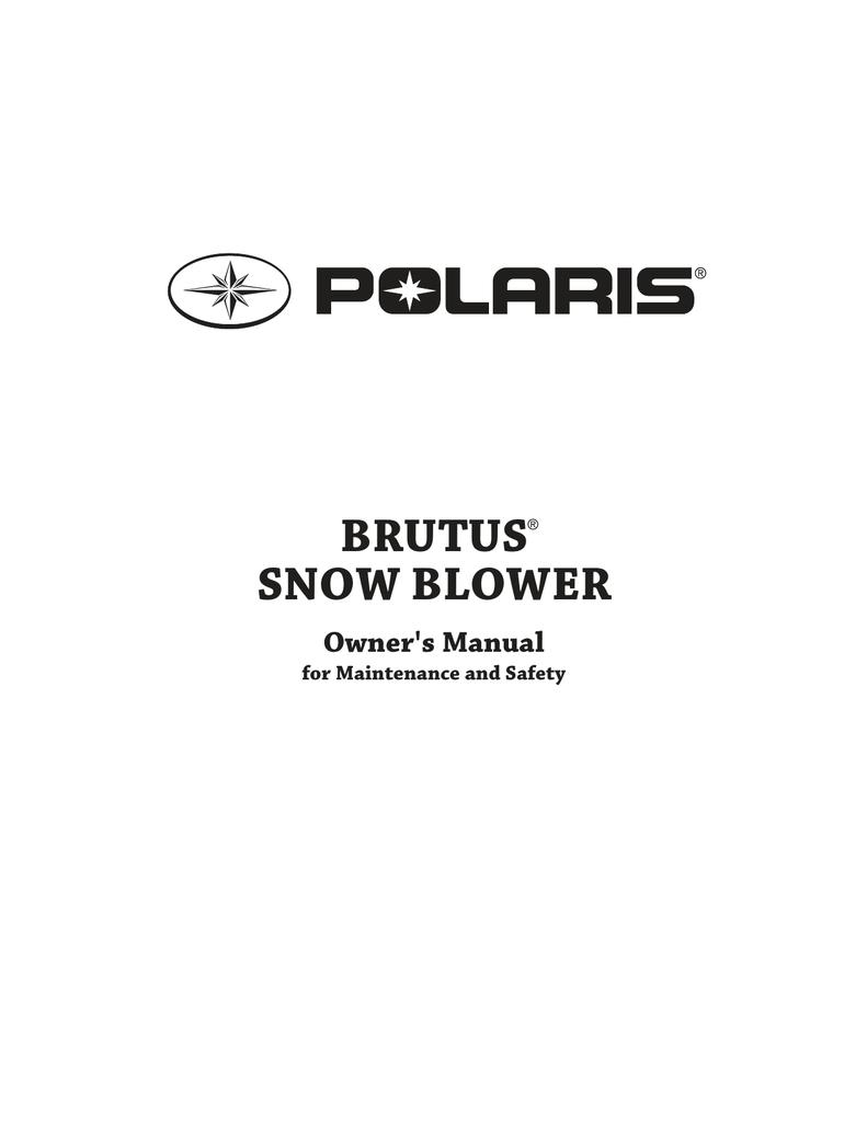 BRUTUS SNOW BLOWER   manualzz com