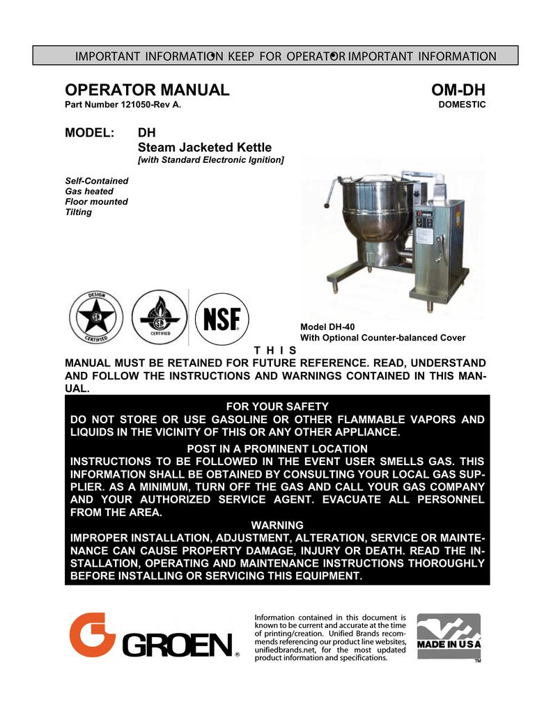 Groen 117088 Water Column Assembly