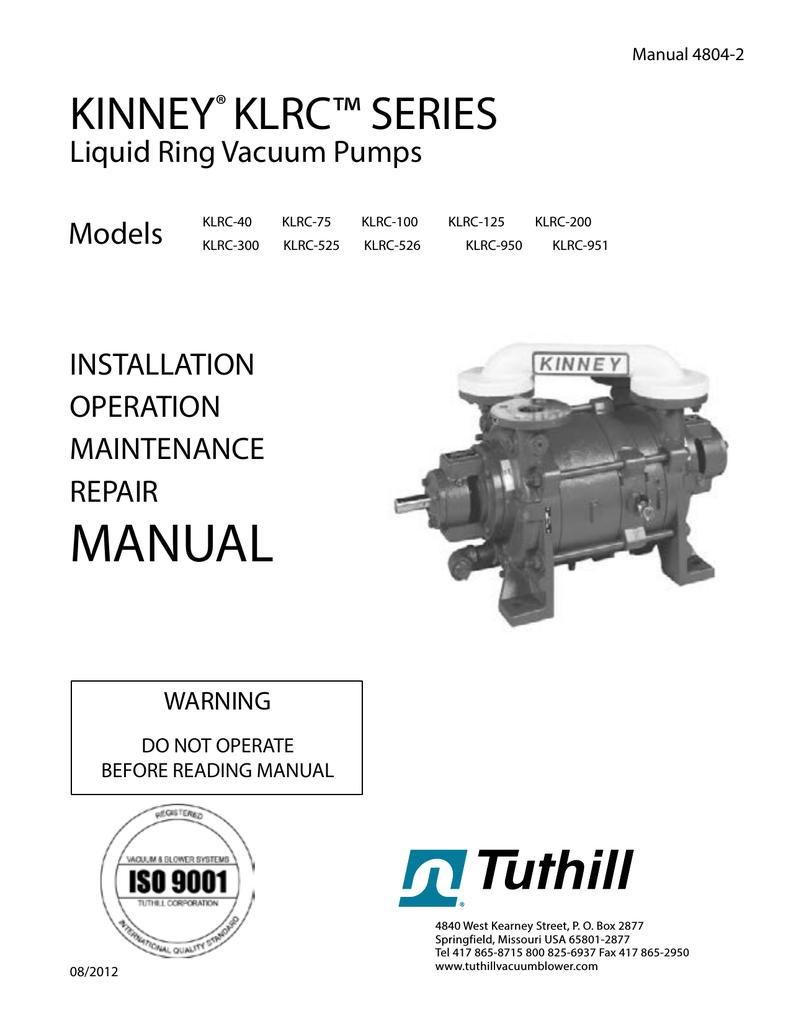 KLRC Manual - Tuthill Vacuum & Blower | manualzz com