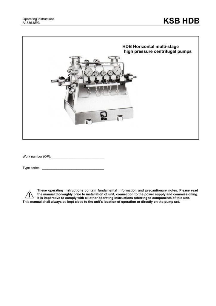 ksb hdb manualzz com rh manualzz com ksb krt pump wiring diagram Pump Schematic Diagram