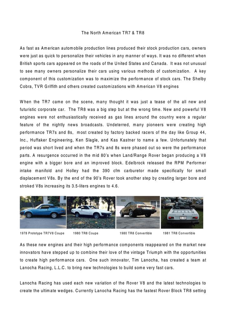 TR7 TR8 Book - Lanocha Racing | manualzz com