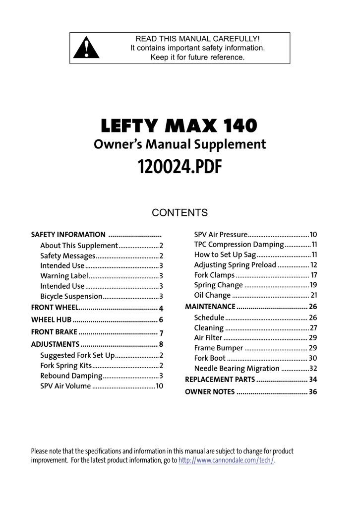 45e9fc47b47 120024 07 Lefty MAX 140 OMS rev1.indd - Eighty-Aid   manualzz.com