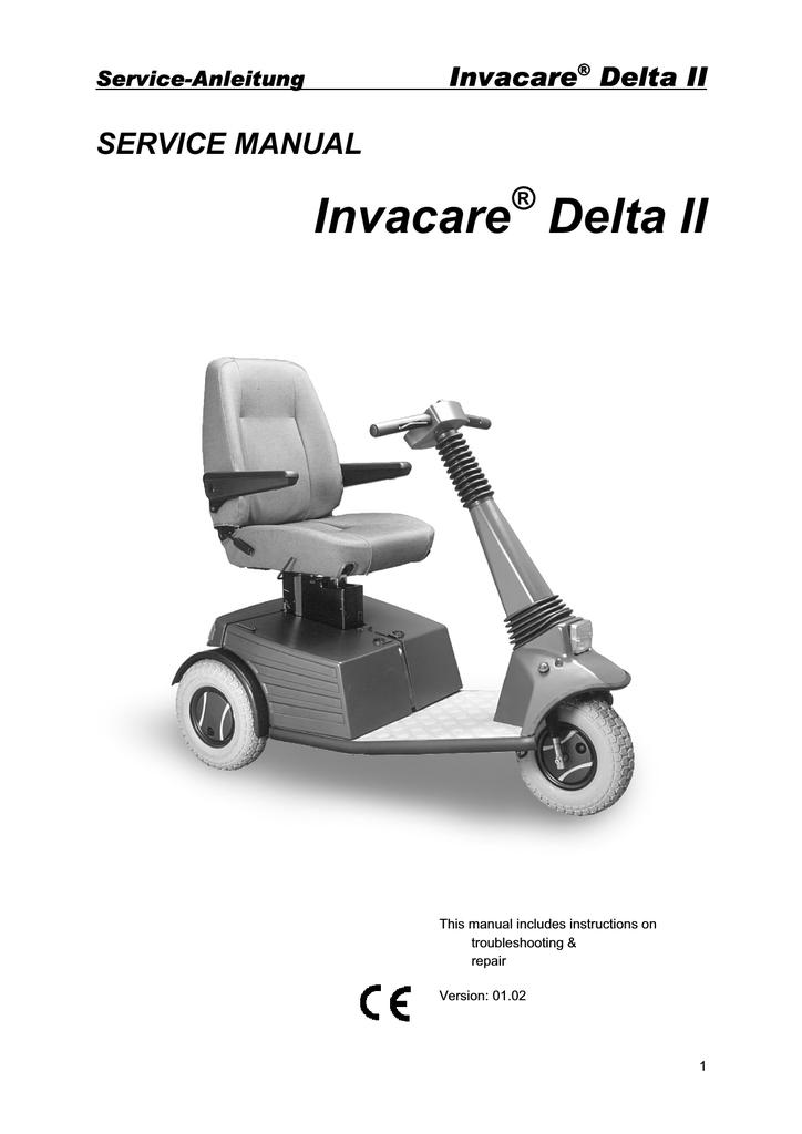 Service-Anleitung Invacare® Delta II | manualzz com