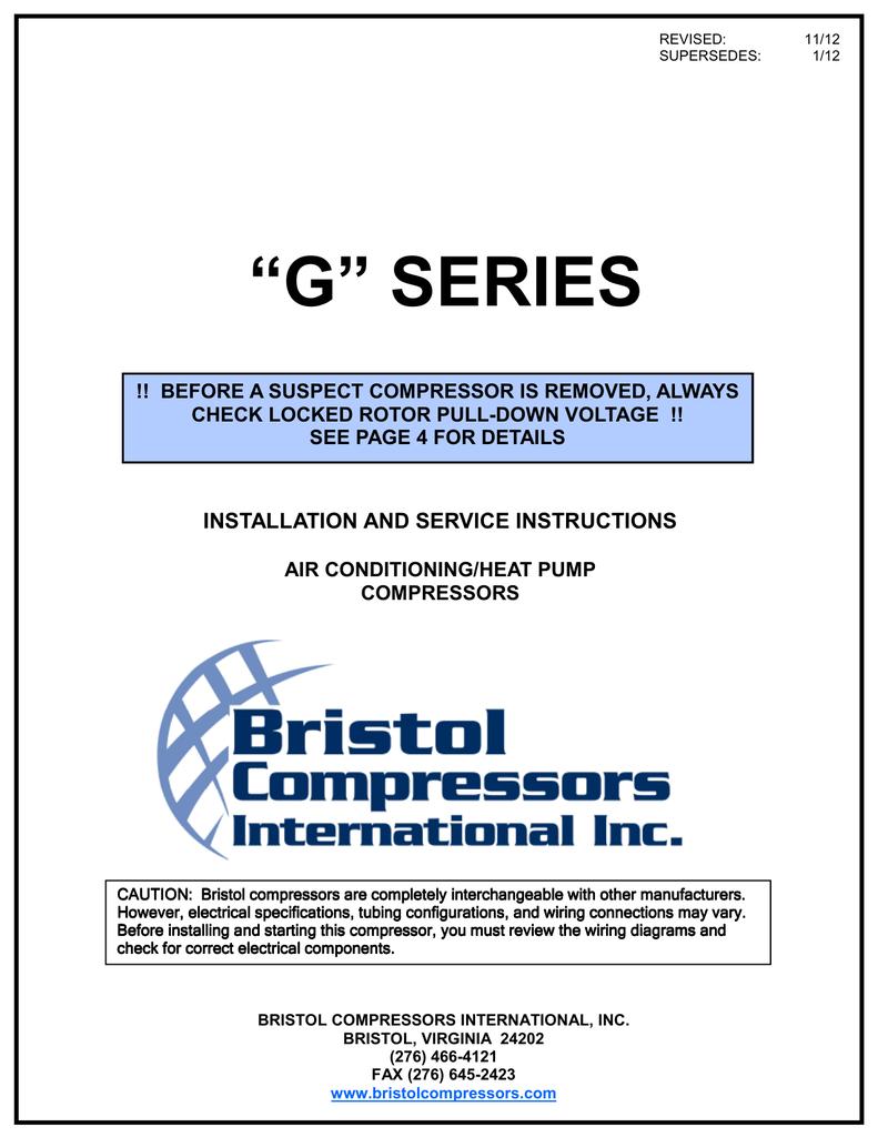 bristol compressor wiring diagram repair machine Basic Compressor Wiring Diagram