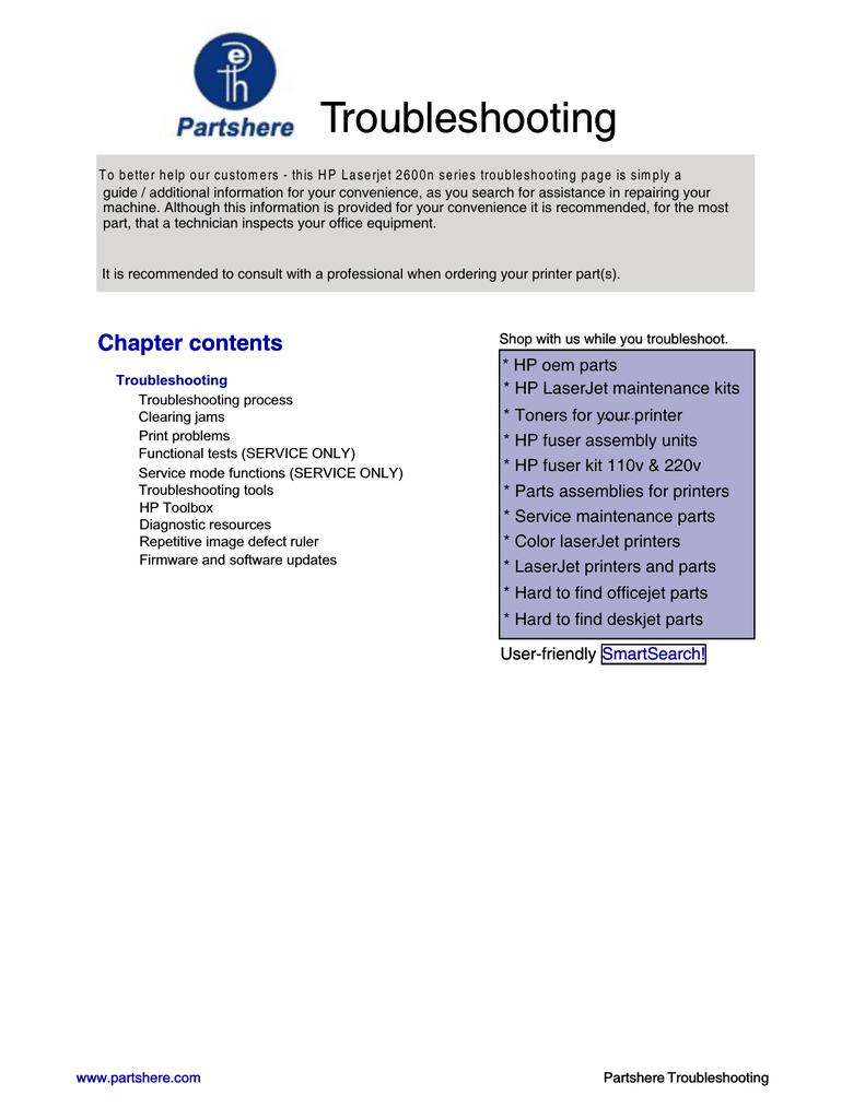 Hp Color Laserjet 2600n Service Manual Manualzz