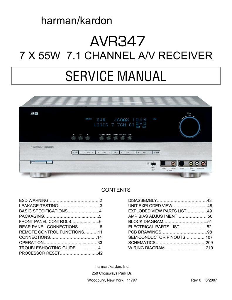 Avr347 Quality Performance Logic 7 Wiring Diagram
