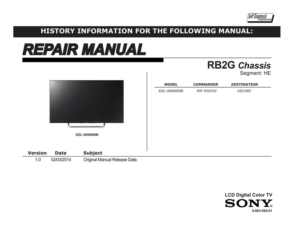 Kdl W800b Service Manual Led Tv Schematic Tcon Board Or