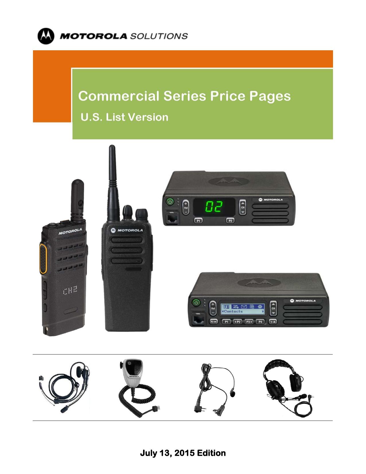 Motorola Commercial ITT57 List Price | manualzz com