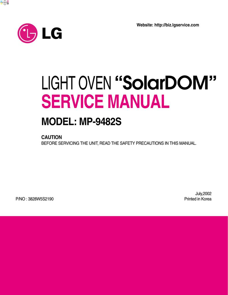 "LIGHT OVEN ""SolarDOM"" SERVICE MANUAL   manualzz com"