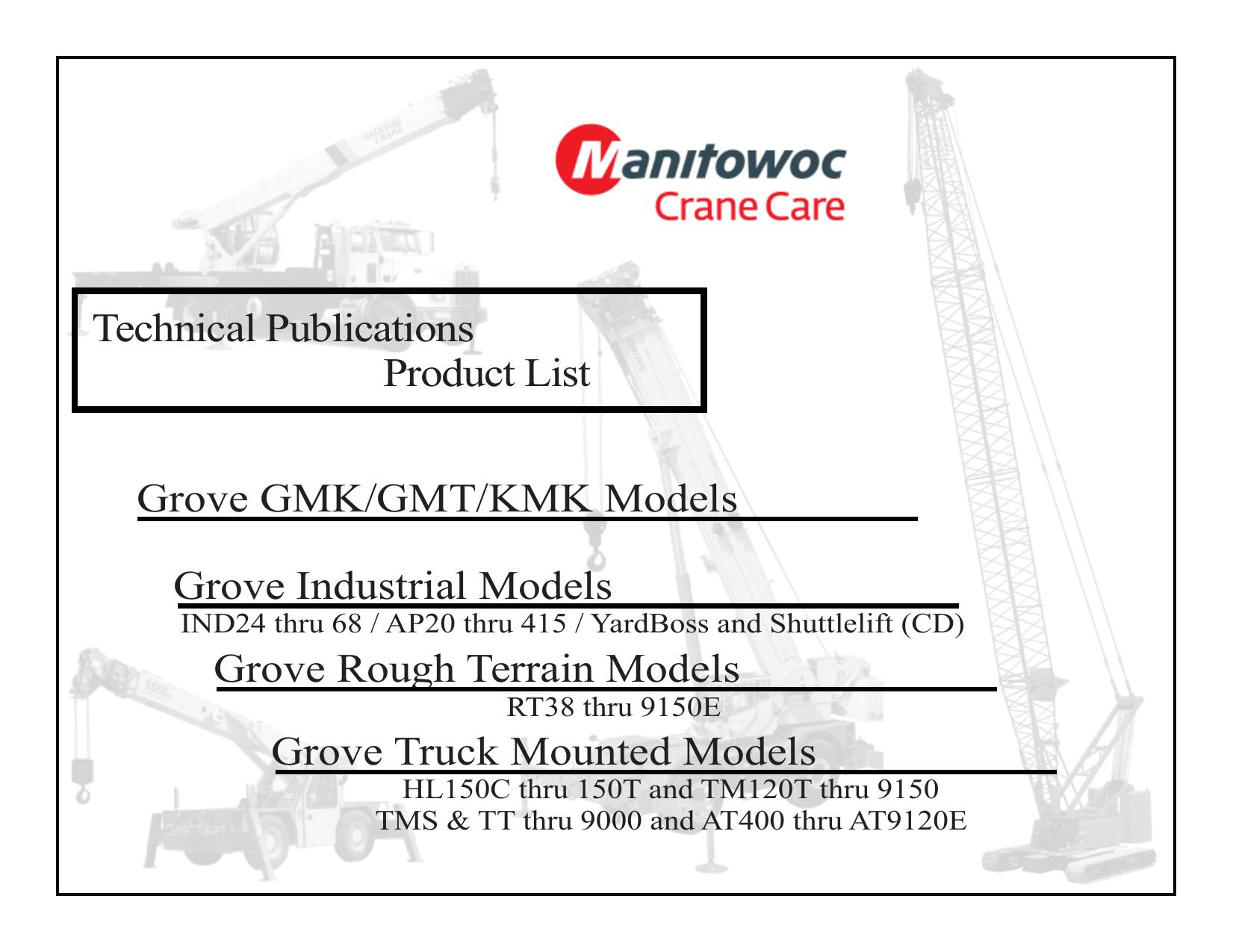 Grove Crane master publications list | manualzz com