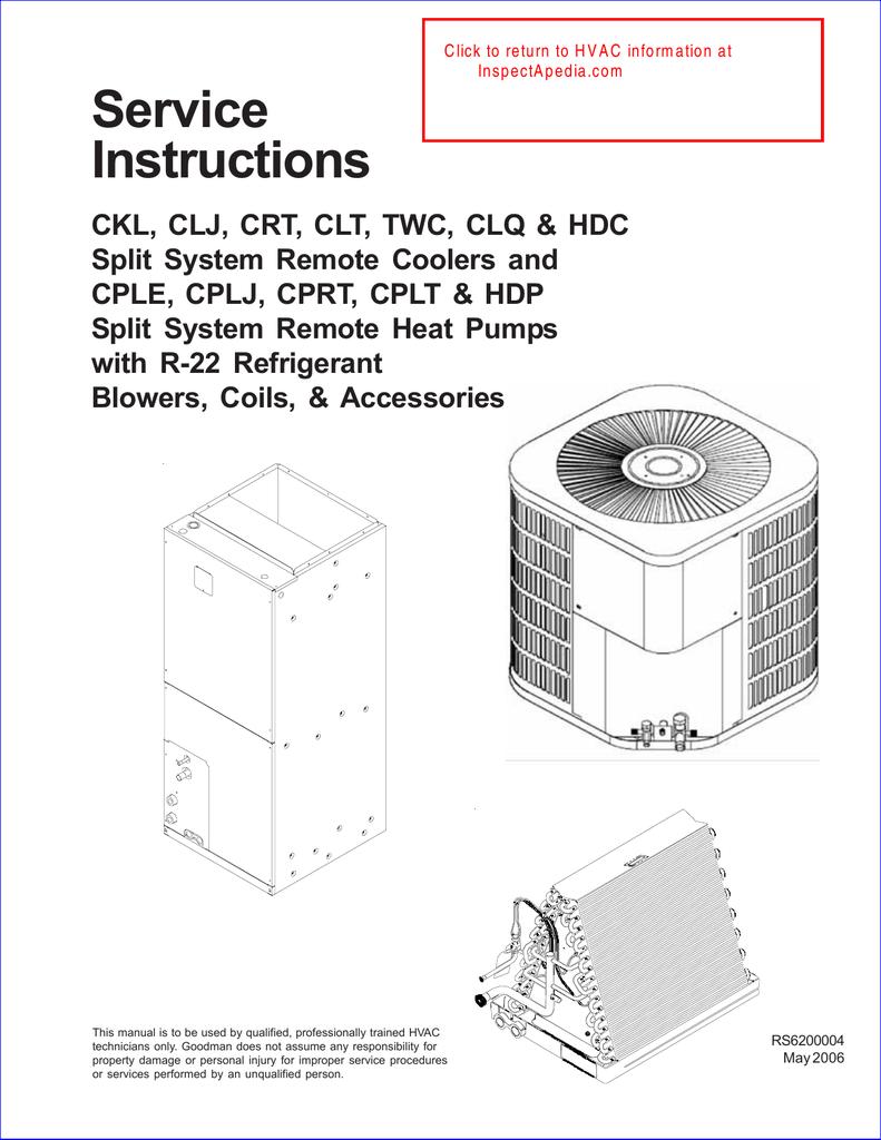 Goodman ac unit service instructions sciox Gallery