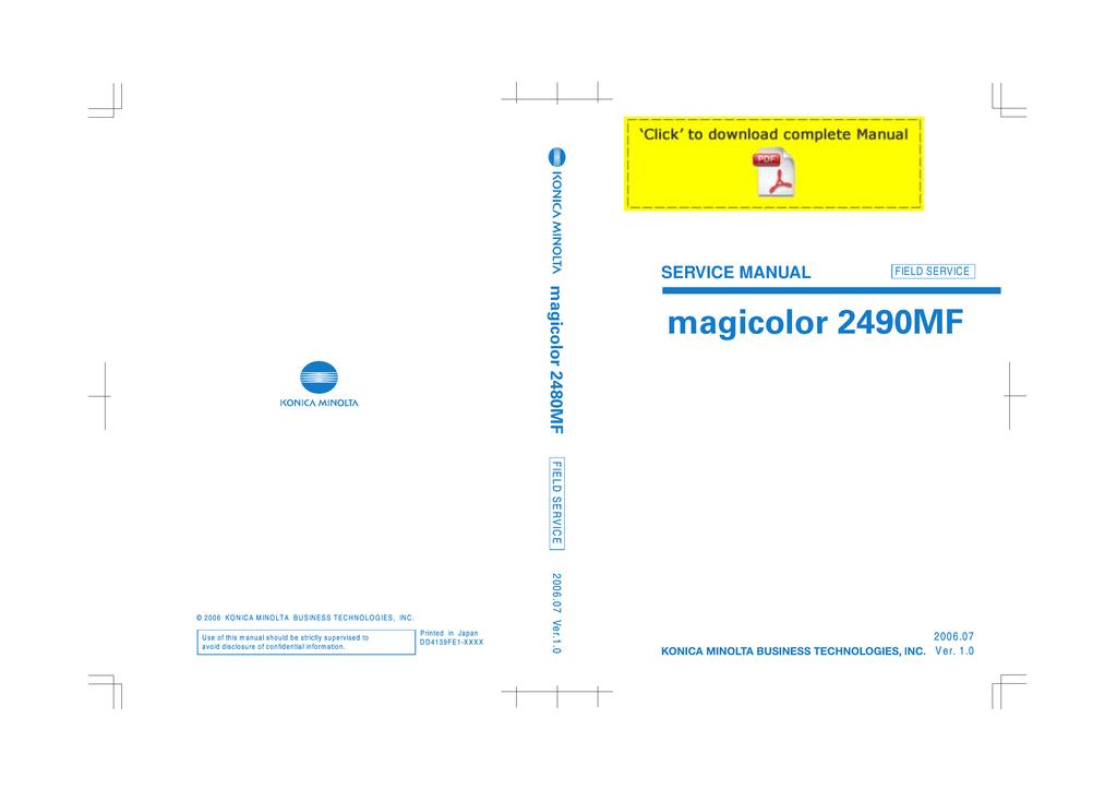 konica minolta 2490mf printer manual