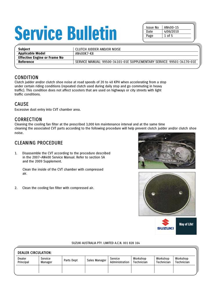 Service Bulletin   manualzz com