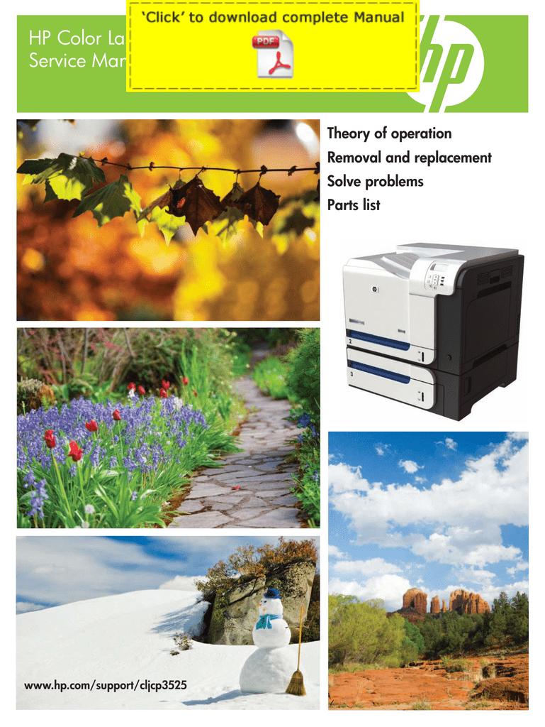 Hp Color Laserjet Cp3525 Service Manual Pages Service Manualzz