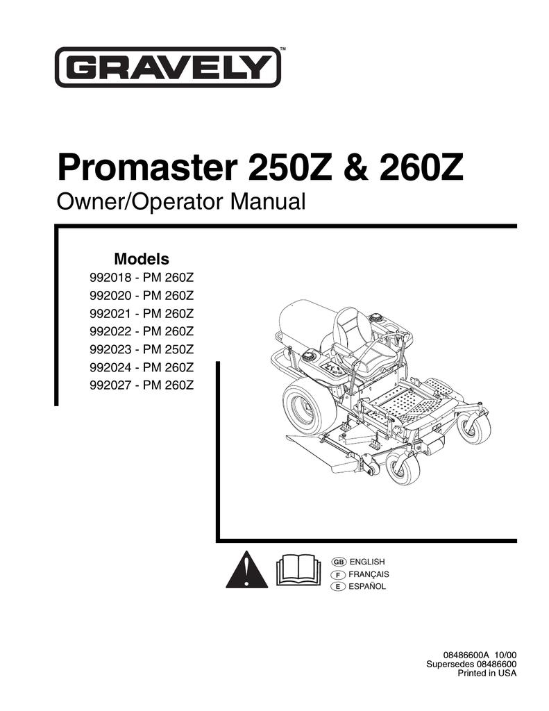 Gravely Promaster 250z 260z Fuel Filter