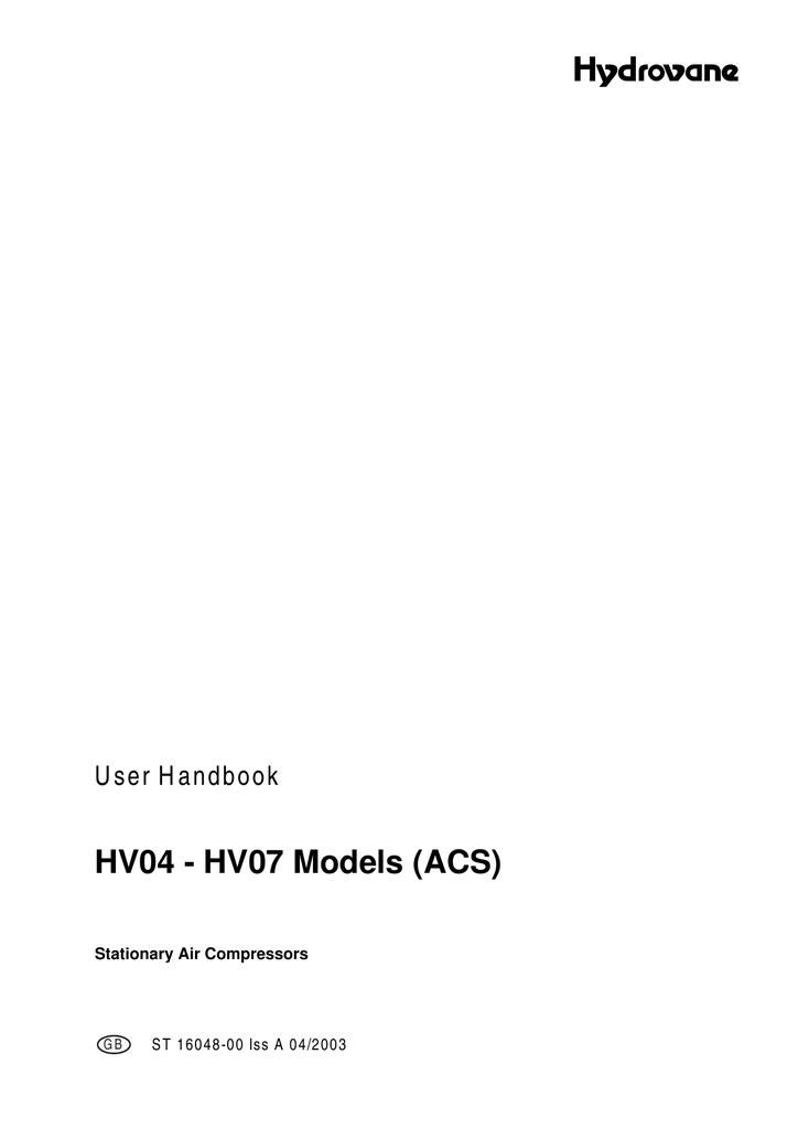 Hydrovane hv04 manual.