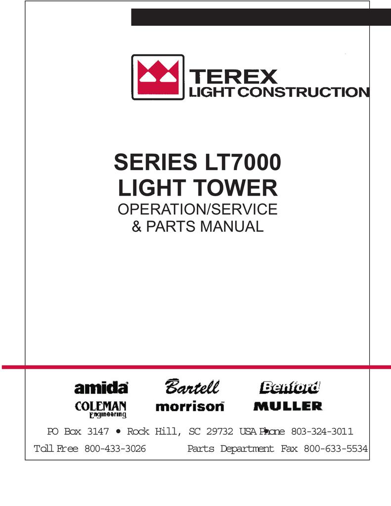 Series Lt7000 Light Tower Datcon Tachometer Wiring Diagram