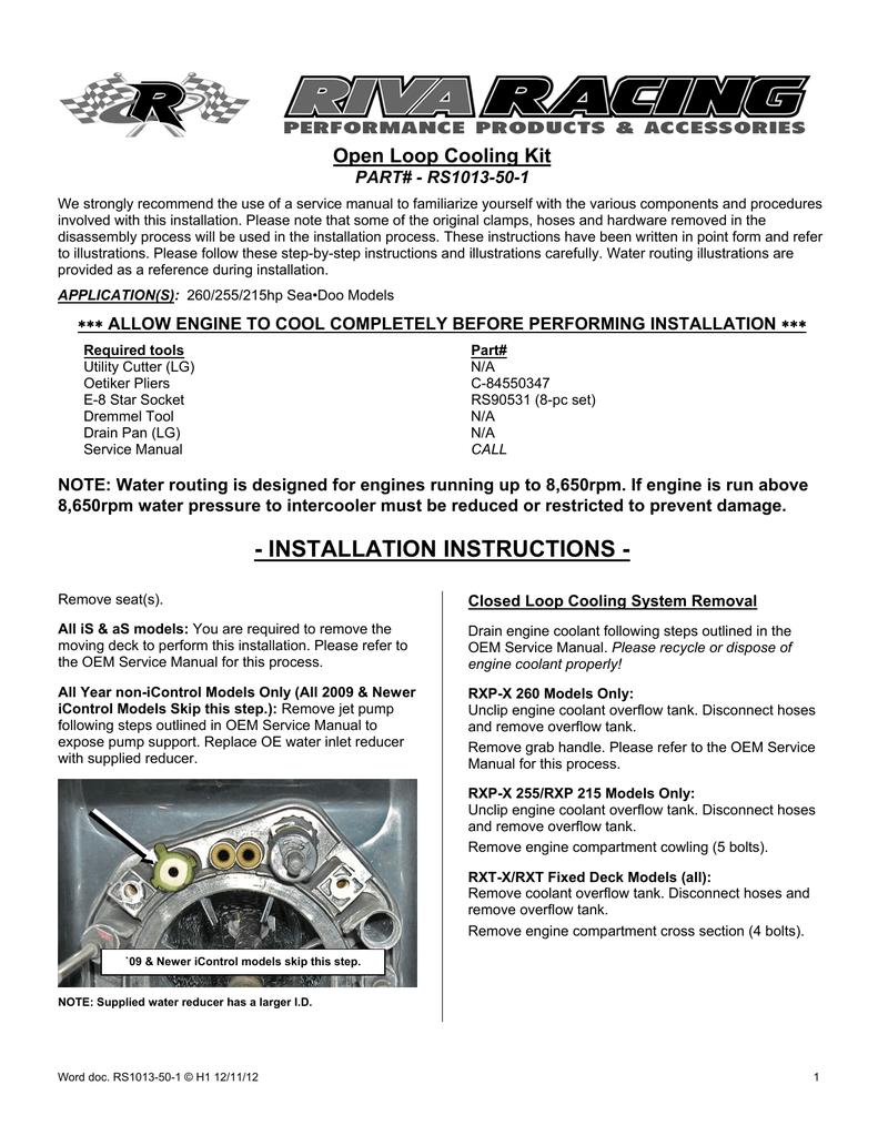 rxp service manual