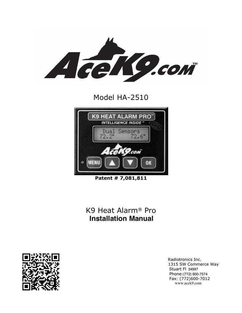 Ace K9 Wiring Diagram Circuits Symbols Diagrams Alarm Heat Pro Manuals Manualzz Com Rh