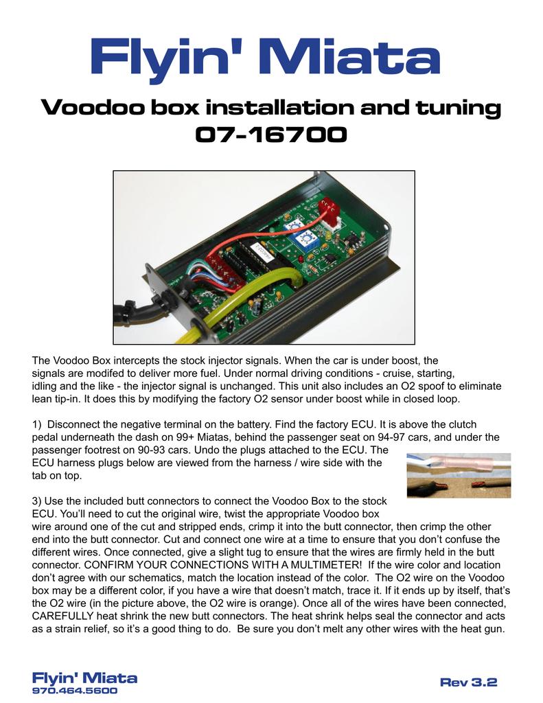 Voodoo Box installation and tuning | manualzz com
