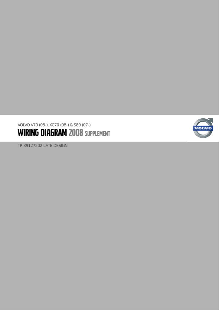 Tp39127202 2008 V70 Xc70 S80 Supplement Wiring Diagram