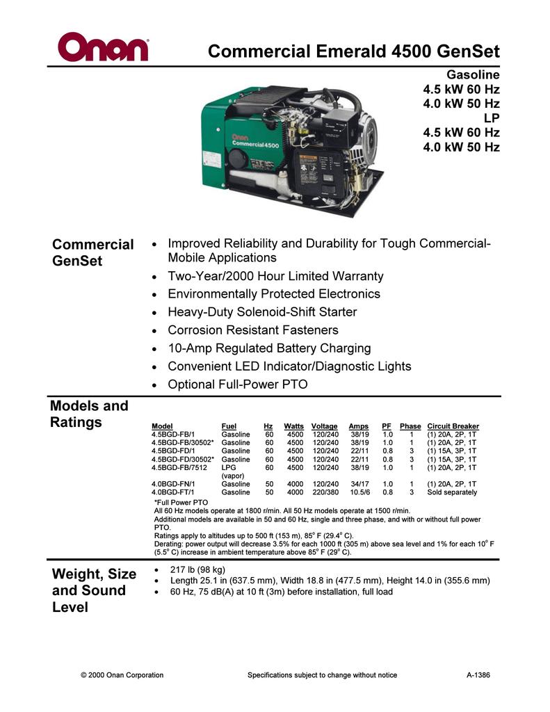 Onan 6500 Commercial Generator Wiring Diagram