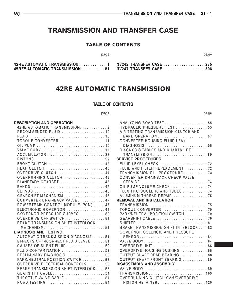42re automatic transmission | ManualzzManualzz