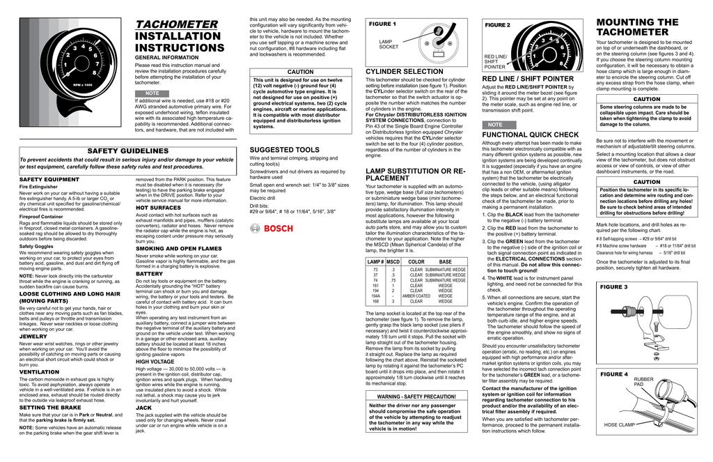 [ZHKZ_3066]  Bosch® Tachometer Installation Instructions | Manualzz | Delta Tachometer Wiring |  | manualzz