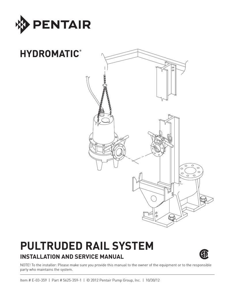 PULTRUDED RAIL SYSTEM - Pentair Water Literature | Manualzz | Hydromatic Pump Wiring Diagram |  | Manualzz