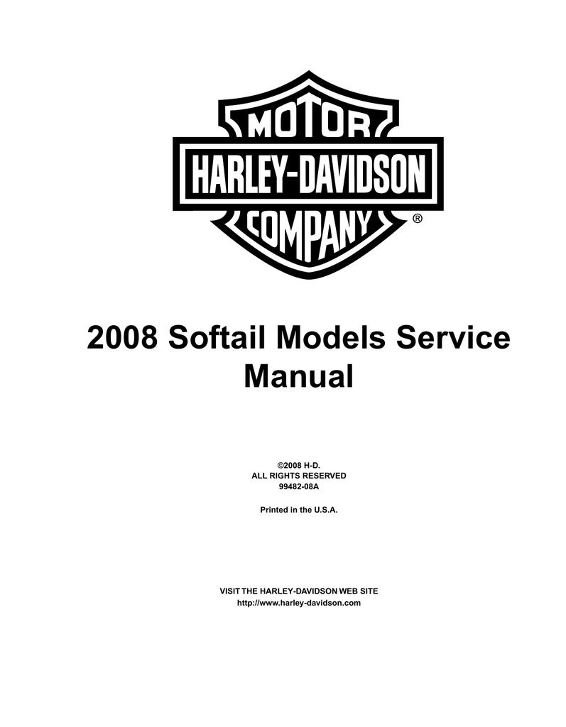 2008 Softail Models Service Manual Manualzz