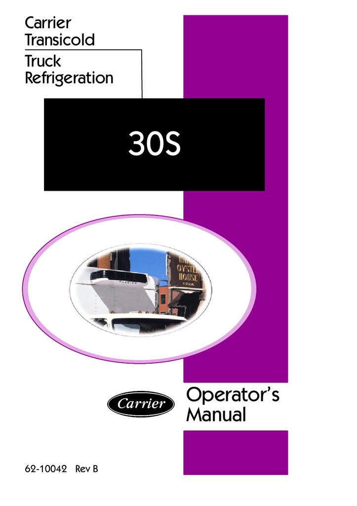 integra 30s operator s manual sunbelt transport refrigeration rh manualzz com Carrier Transicold M3 Wiring-Diagram carrier integra 30s manual