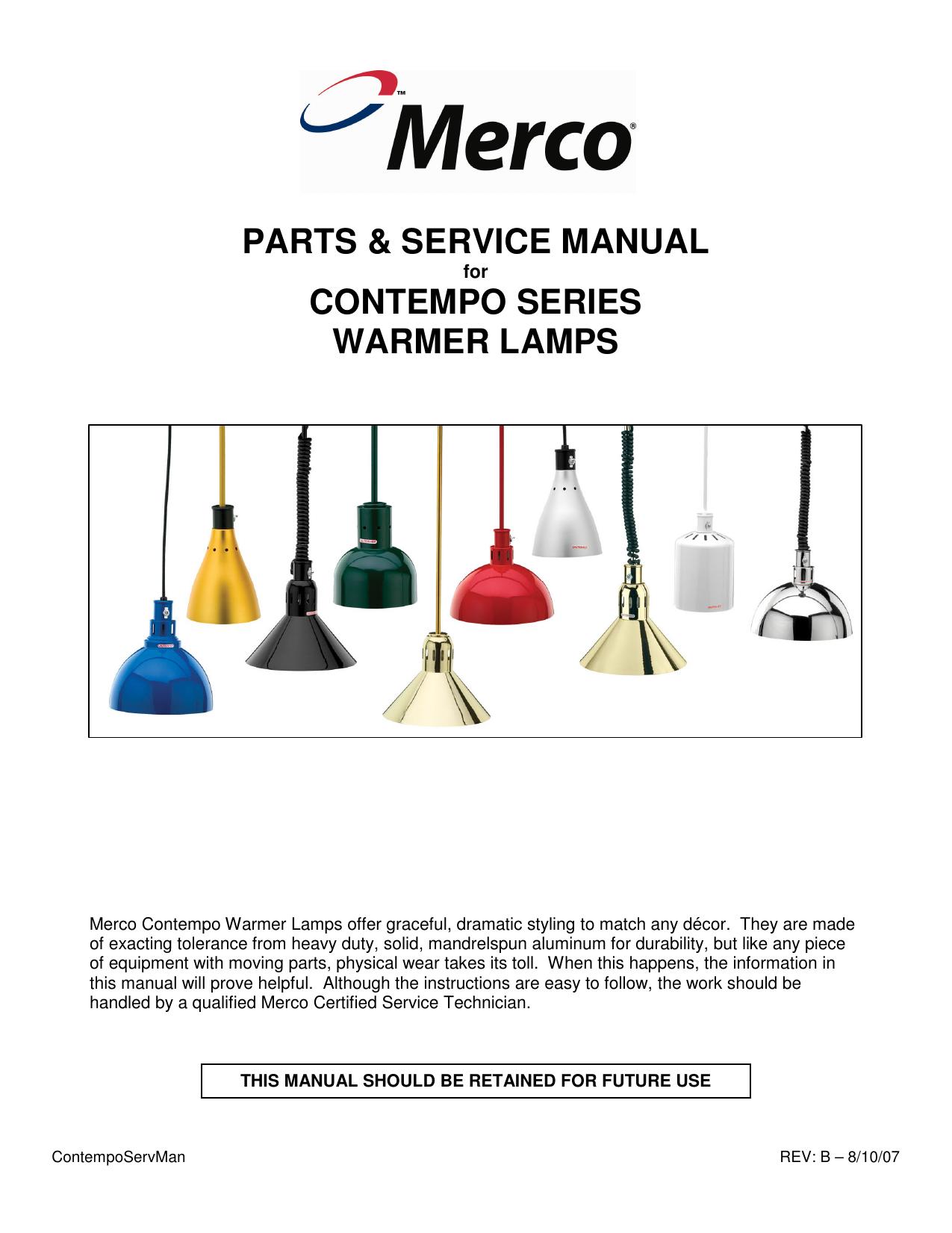 Parts Service Manual Contempo Series Merco Wiring Diagram