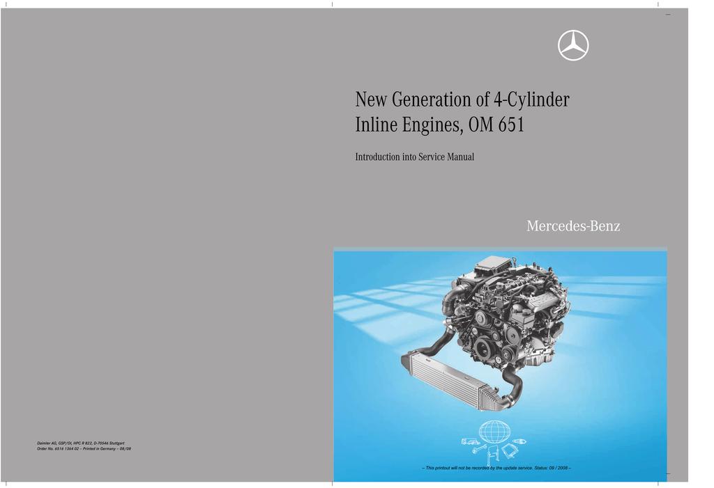 New Generation of 4-Cylinder Inline Engines, OM 651 | manualzz com