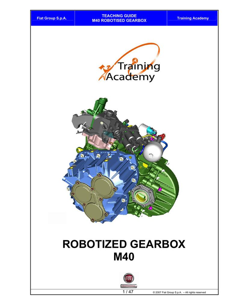 ROBOTIZED GEARBOX M40 | manualzz com