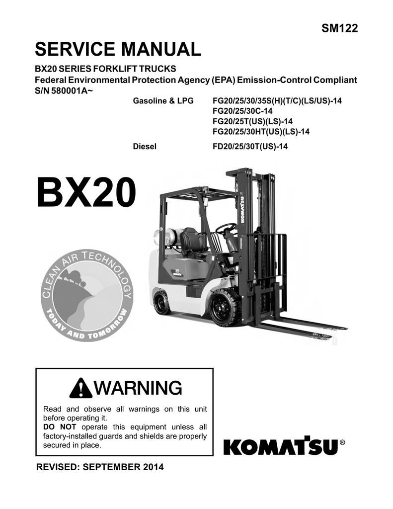 SERVICE MANUAL - Komatsu Forklift USA, Inc  v3 1 | manualzz com