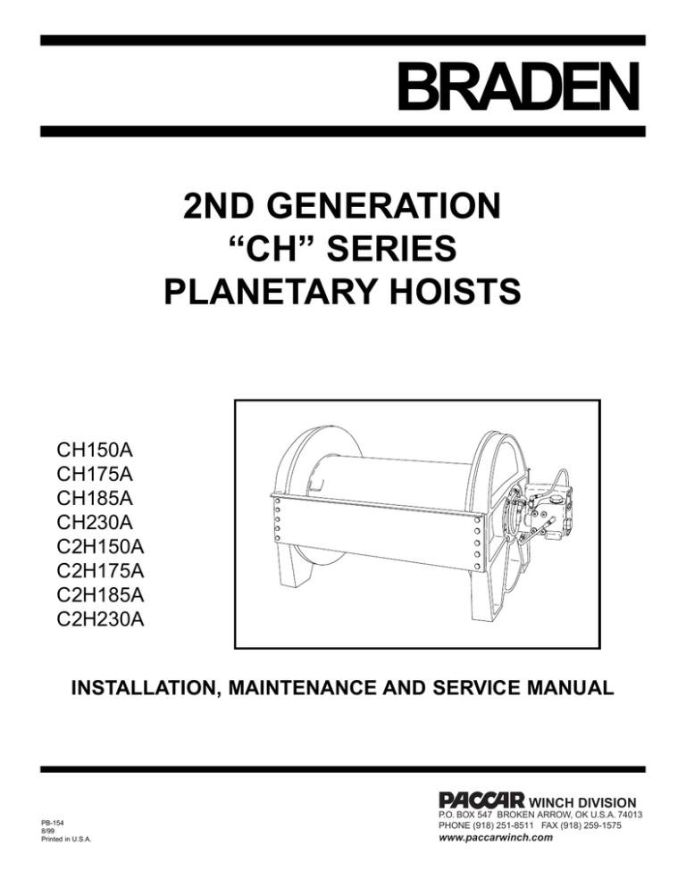 BRADEN - Winches, Inc. | ManualzzManualzz