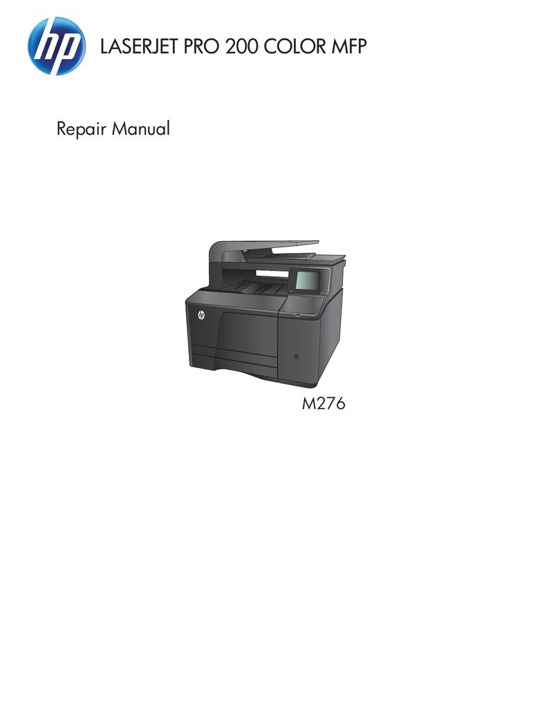 Hp Laserjet Pro 200 Color Mfp Series Repair Manual