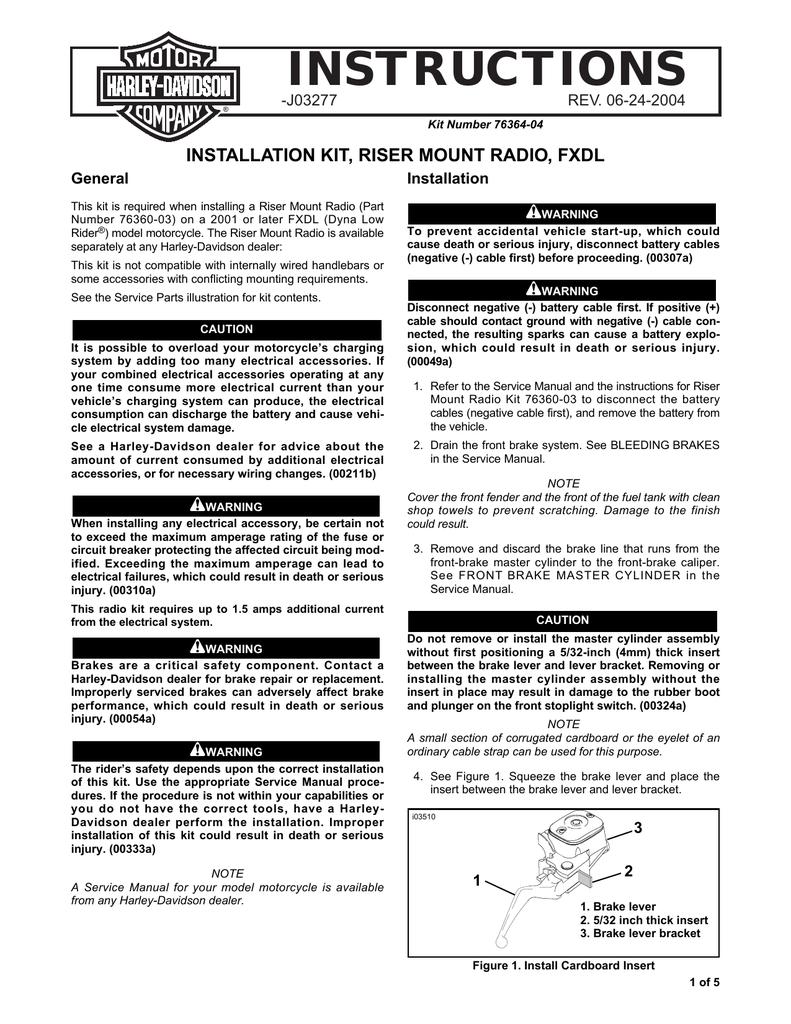 INSTRUCTIONS - Harley | manualzz com