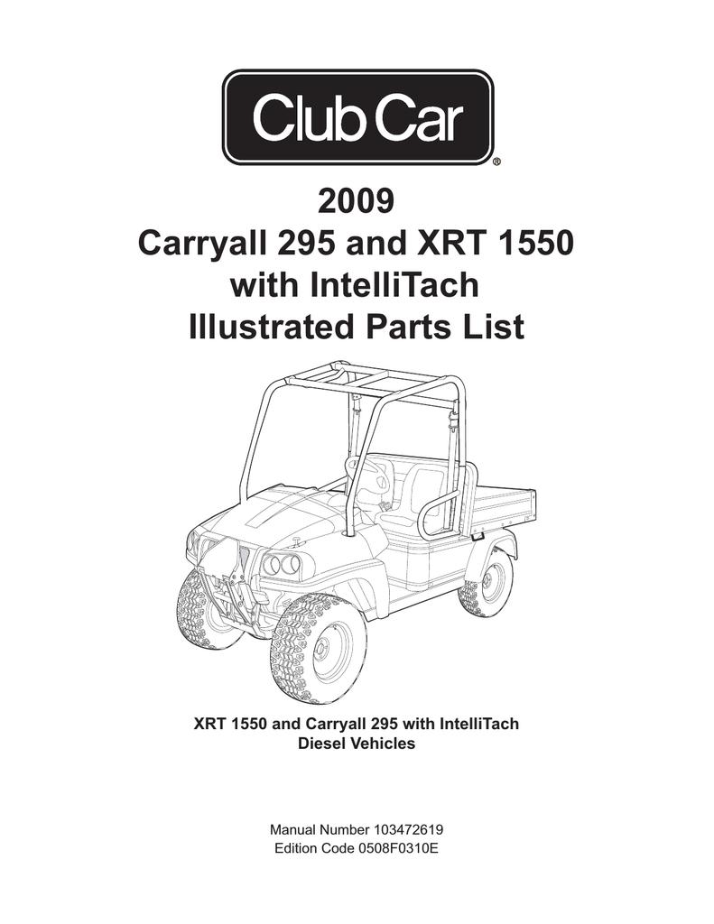 Best Club Car Carryall 295 Manual Image Collection Xrt 1550 Wiring Diagram Operator Handbook Intellitach 103237501