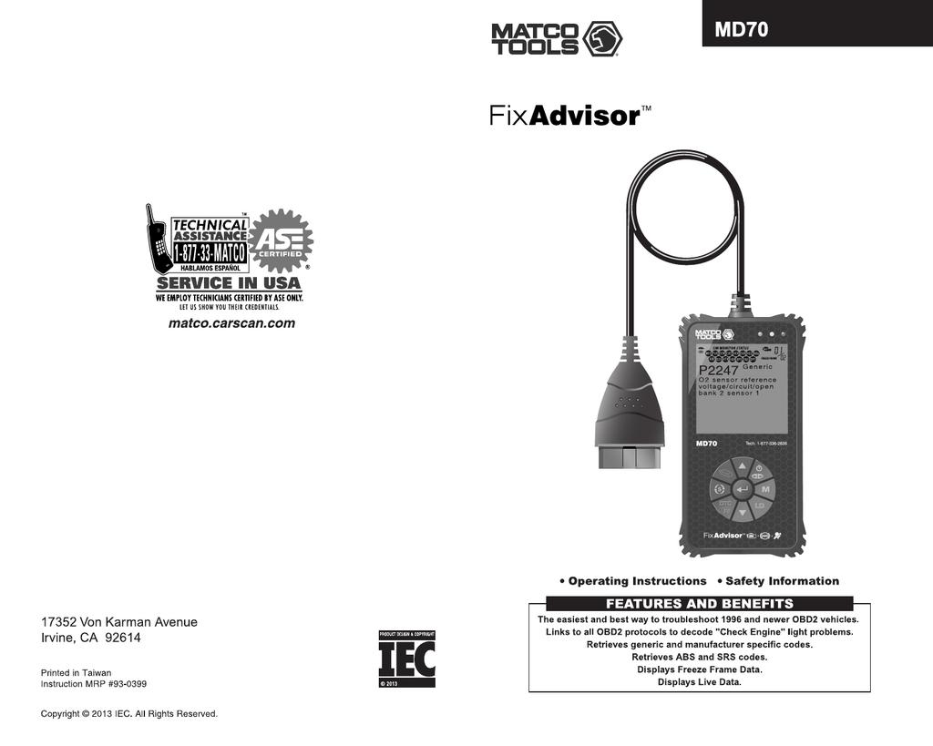 matco fuel injector pulse tester